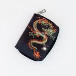 Chinese Kızıl Dragon Kısa Cüzdan