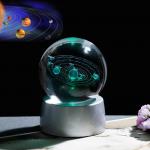 Güneş Sistemi Işıklı Cam Küre