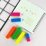 Lego Tasarım 5'li Fosforlu Kalem Seti