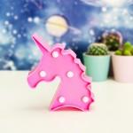Pembe Unicorn Mini Led Lamba