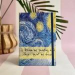 Van Gogh Motto Tasarımlı Defter